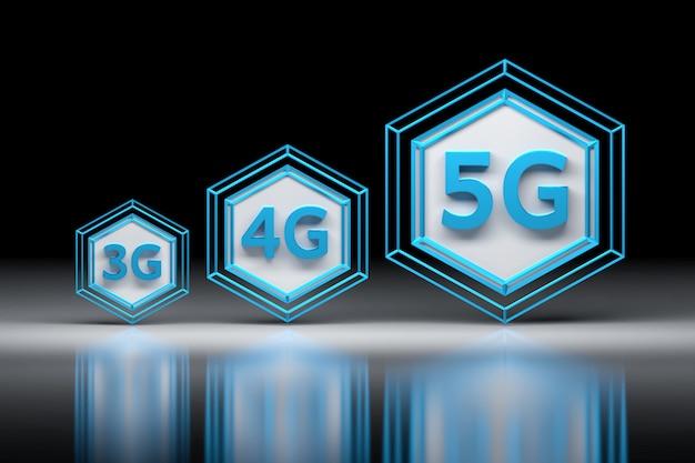 3g, 4g, 5g technologie