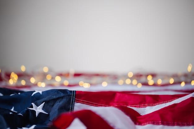 4. juli des unabhängigkeitstags, tag der arbeit, usa, usa flagge mit bokeh