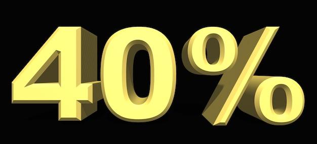 40 % prozentzahl auf dunklem hintergrund
