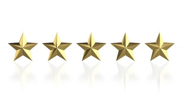 5 goldener stern
