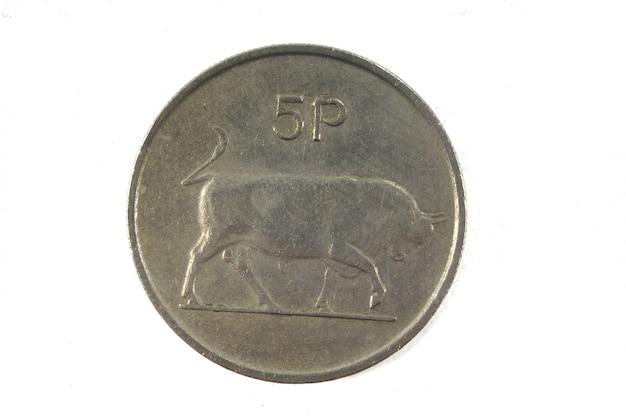 5 irish pence münze