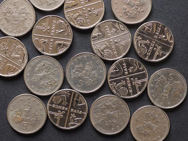 5-pence-münze, vereinigtes königreich