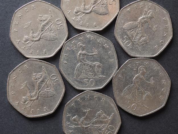 50-pence-münze, vereinigtes königreich