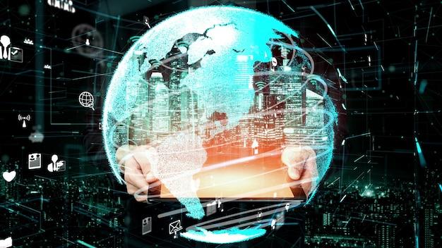5g-kommunikationstechnologie des internet-netzwerks konzeptionell