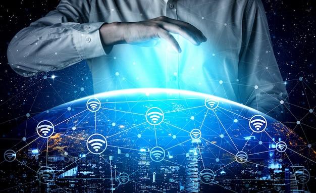 5g kommunikationstechnologie drahtloses internet-netzwerk für globales geschäftswachstum
