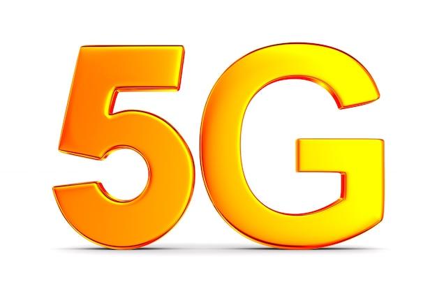 5g netzwerk auf weiß