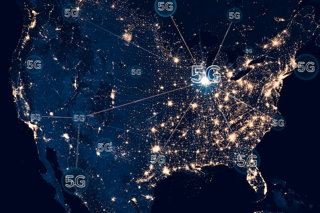 5g-netzwerk-smart-city-hintergrundtechnologie