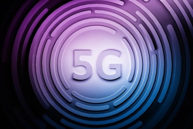 5g technologie blau lila