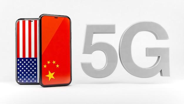 5g-technologie zwischen den usa und china