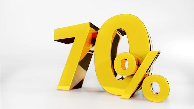 70% goldenes symbol