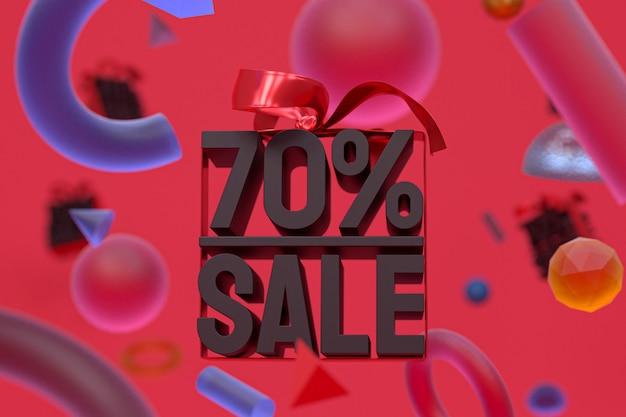 70% verkauf mit bogen und band 3d design auf abstrakte geometrie