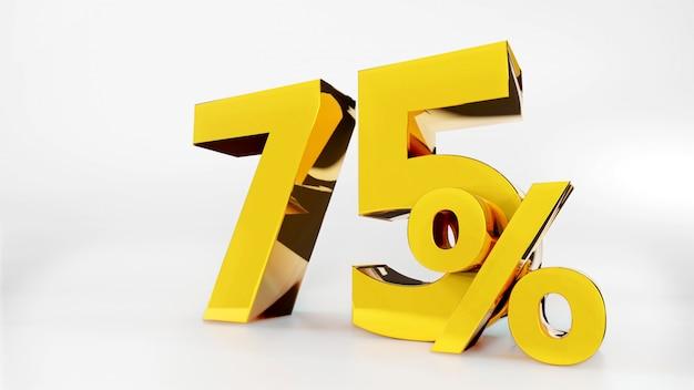 75% goldenes symbol