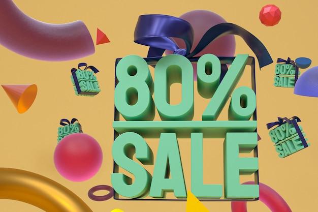 80% verkauf mit bogen und band 3d design auf abstrakte geometrie