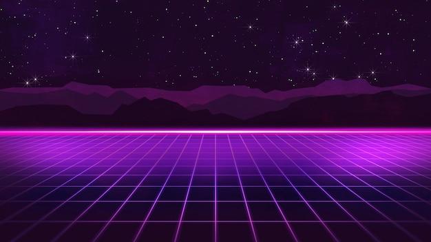 80er jahre futuristic retro synthwave