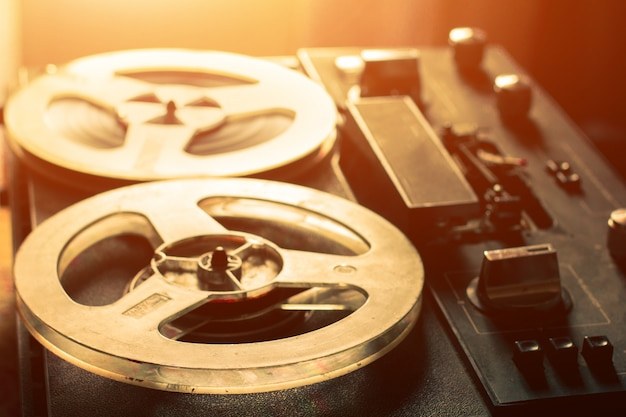 80er jahre vintage kassettenrekorder. nahansicht