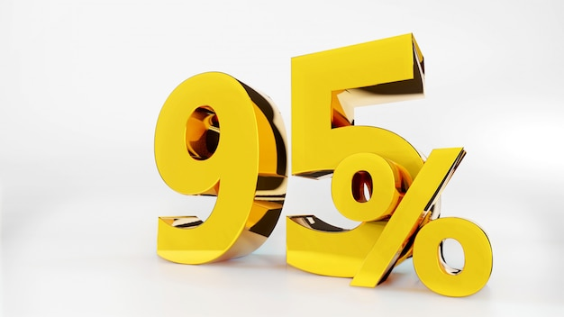 95% goldenes symbol