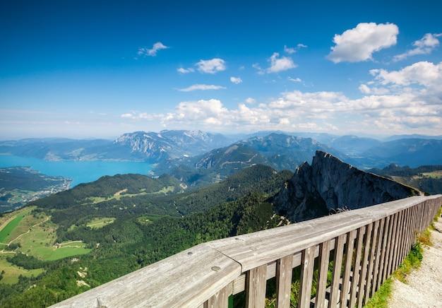 A oberflächen panorama berge in österreich