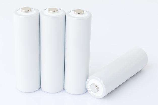 Aa batterien über weiß
