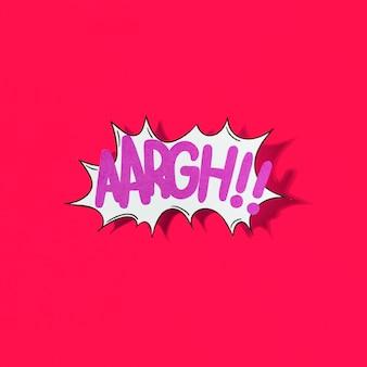 Aaargh !! wort comic-buch-effekt auf rotem hintergrund