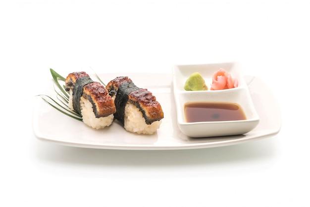 Aal nigiri sushi - japanische essensart