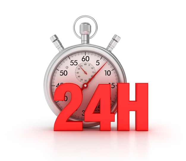 Abbildung der stoppuhr mit 24h rendern