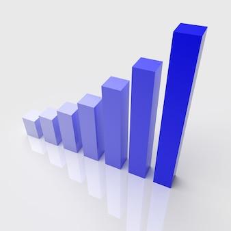 Abbildung des diagramms mit dem wachsenden fortschritt. geschäftskonzepte