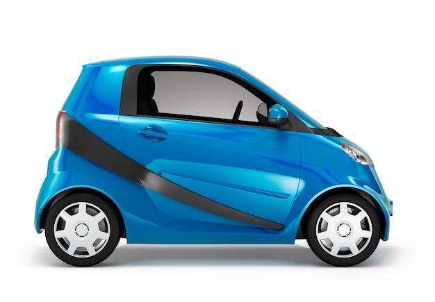 Abbildung eines blauen autos