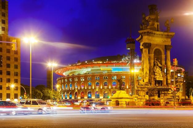 Abend blick auf die plaza de espana