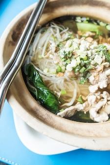 Abendessen chinesische nudel leckeres mittagessen