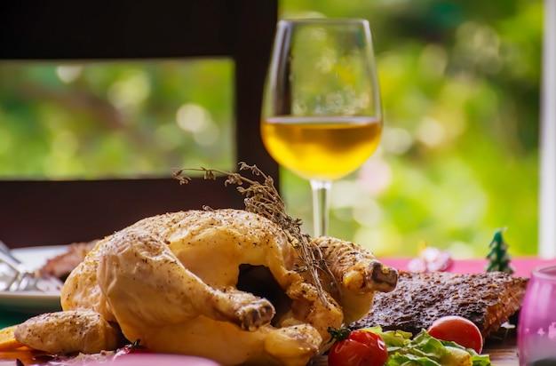 Abendessen essen für thanksgiving zu feiern