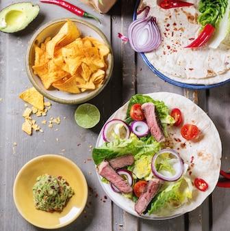 Abendessen im mexikanischen stil