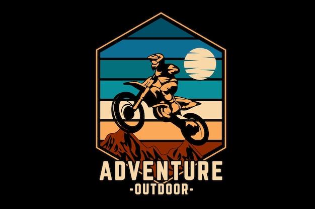 Abenteuer outdoor silhouette design retro-stil