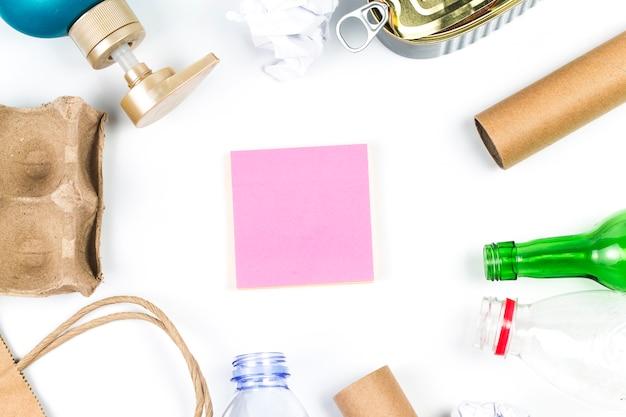 Abfall-recycling-öko-symbol mit müllentsorgung Kostenlose Fotos