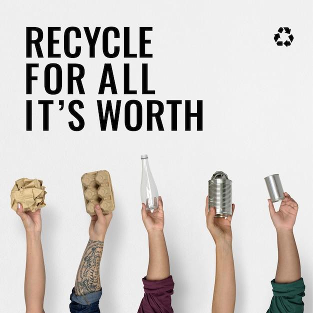 Abfallwirtschafts- und recyclingkampagne