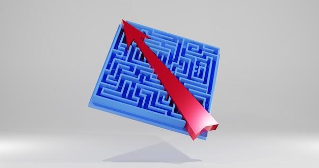 Abkürzung zum erfolg., labyrinthspiel und pfeil