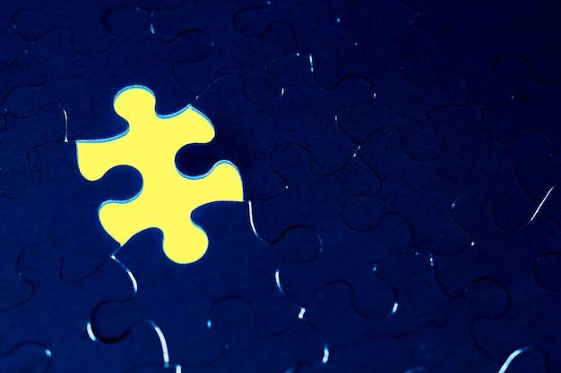 Abschluss des fehlens des konzepts eines puzzles