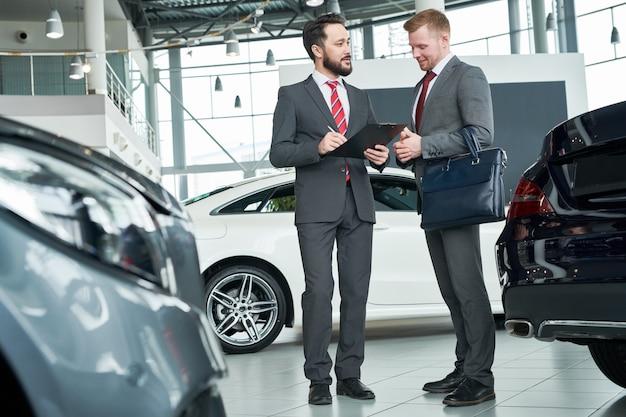 Abschluss eines vertrages über den kauf des autos