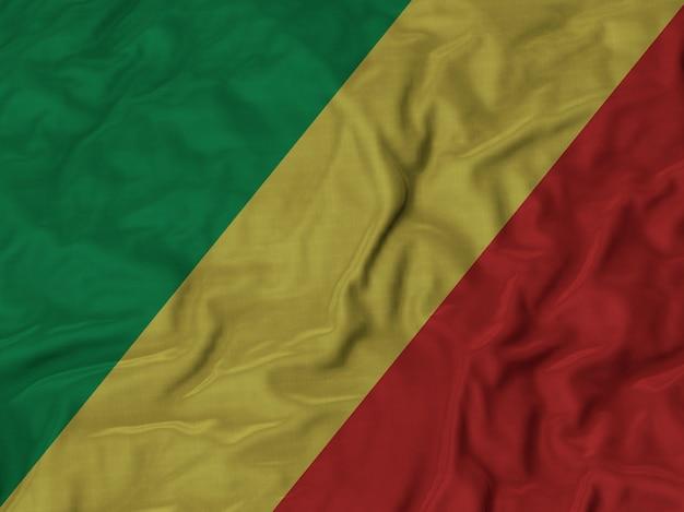 Abschluss oben der gekräuselten republik der kongoflagge