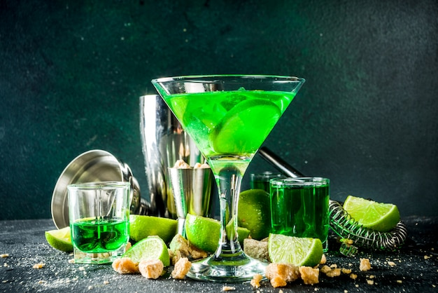 Absinth und wodka martini
