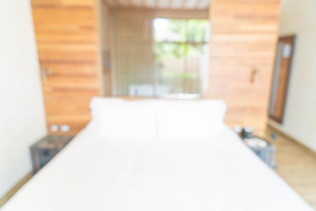 Abstact unschärfe innendekoration im schlafzimmer
