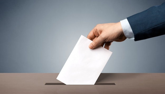 Abstimmung über demokratische wahlen, referendum. treffen sie die richtige wahl.
