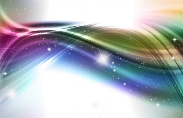 Abstract design hintergrund in regenbogen farben und sterne