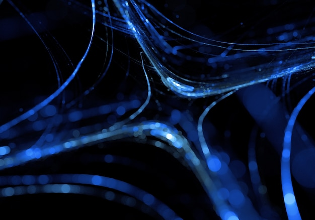 Abstrakt blau dynamischen linien effekt