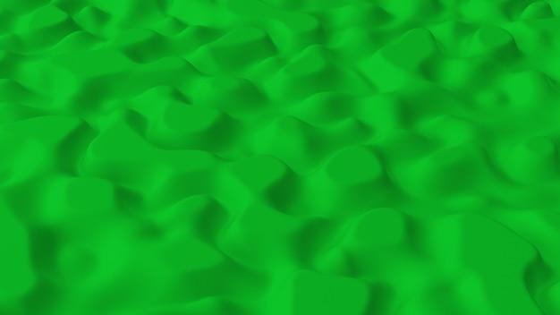 Abstrakt minimalistisch mit grünem rauschwellenfeld