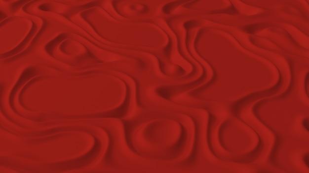 Abstrakt minimalistisch mit rotem rauschwellenfeld