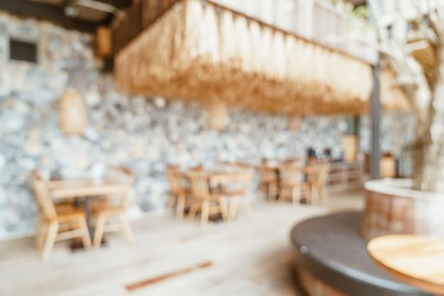 Abstrakt verschwommenes café