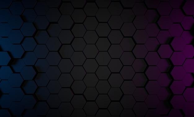 Abstrakte 3d-darstellung, moderner geometrischer hintergrund, grafikdesign