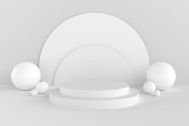 Abstrakte 3d-form und geometrie, weißer farbstufenhintergrund.