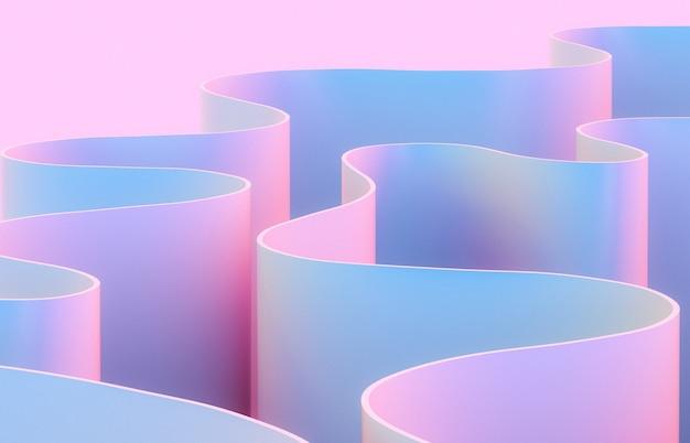 Abstrakte 3d-kunst mit kurvenform.
