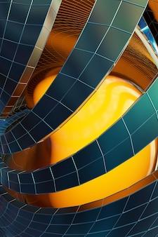 Abstrakte 3d-rendering der chaotischen plexusoberfläche zeitgenössischer hintergrund futuristische polygonale form